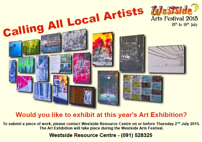 Image of poster inviting artists to submit a piece for Westside Arts Festival Art Exhibition