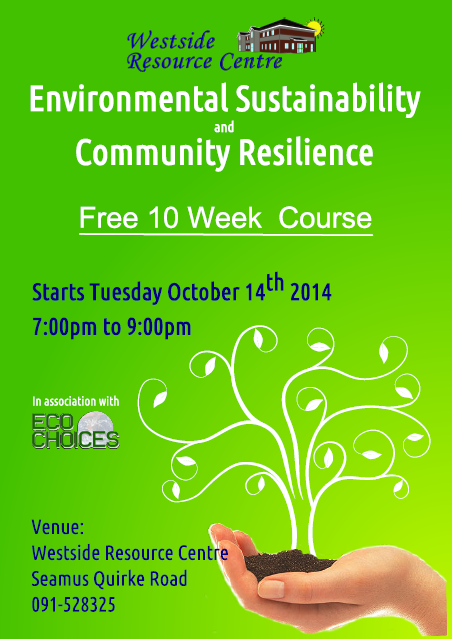 Image of poster for an environmental sustainability course